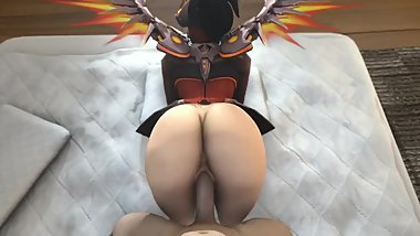 mercy enjoying a naught spanking fuck from behind has sound devil ver