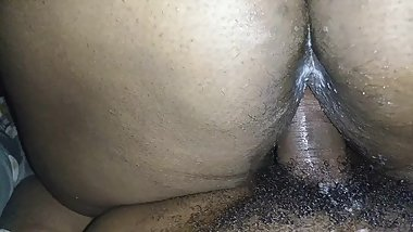 Wet creamy reverse cowgirl
