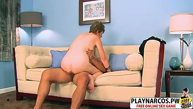 Busty Stepmom Allura James Bangs Hard Her Friend