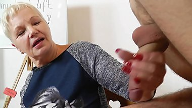 Mature Teacher Handjob/Blowjob Long Red Nails 3