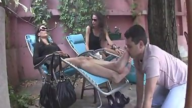 hot serbian ladys being pampered in belgrade cafe