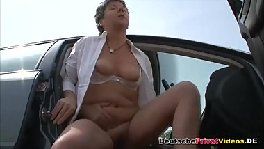 Chubby German mature public