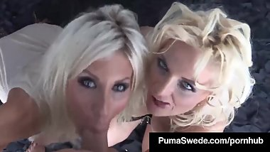 Euro Babes, Puma Swede & Bobbi Eden Give A Double BlowJob!