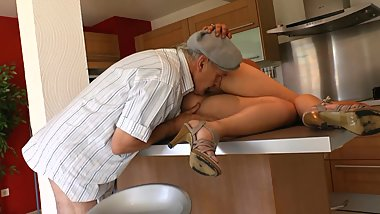Chubby Cheating Wife Fucks Her Husbands Dad