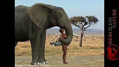 Elephant Eats African Woman Alive