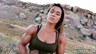 Cass Martin Flexing Arms