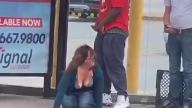 BBC handicap man fucking drunk white women at the BUS stand