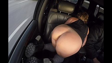 FLASH TRUCKER MILF
