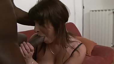 Huge Tit Grandma Destroyed by Big Black Cock and Gets Tits Covered in CUM