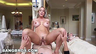 Brandi Love Gives Massage To Teen Before Giving Him A Good Fucking