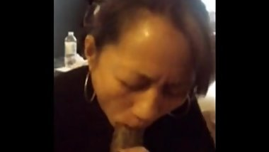 Asian maid sucks off black boss