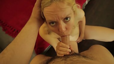 My Hot Hungry Cocksucking Blonde MILF Stepmom Jamie Foster Swallows My Cock