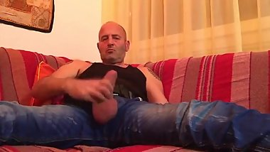 daddy wank on couch